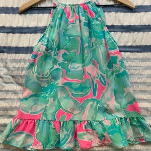 Lilly Pulitzer high neck silk top